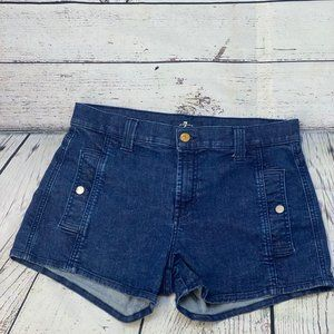 7 For all Mankind shorts size 30 snap pockets in f